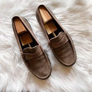 ALDEN Shoes Beefroll Penny Moc Suede Loafer 10.5